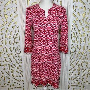 Coolibar Pink Patterned Sheath Dress UPF 50+